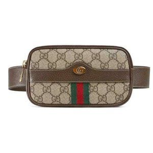 Gucci Ophidia Belt Small Size 75 Brown Gg Supreme
